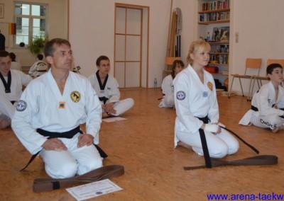 Dan-Prüfung 2012 Tragen des Meistergrades