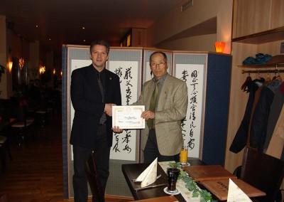 Danhak-Lehrer-Lizenz Überreichung 12.2012