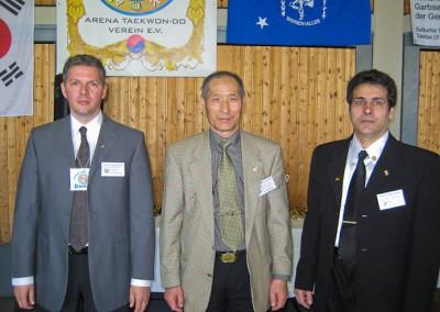 Großmeister Lee Mitte, Großmeister Amin rechts, Großmeister Sven Angersbach links Turnier 2010