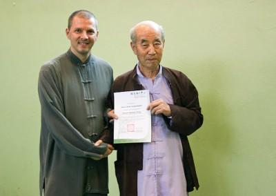 Prof. Zhang Teilnehmerzertifikat
